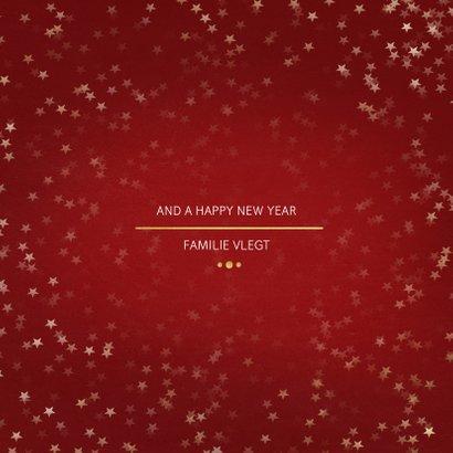 Kerstkaart Christmas rood en goud 3