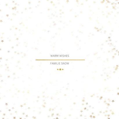 Kerstkaart Christmas wit en goud 4 foto's - Een gouden kerst 3