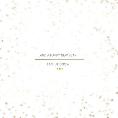 Kerstkaart Christmas wit en goud - Een gouden kerst 3