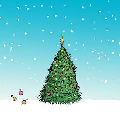Kerstkaart Citroen eend wit av 2