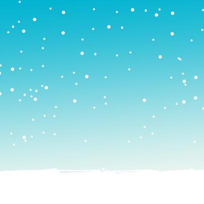 Kerstkaart Citroen eend wit av 3