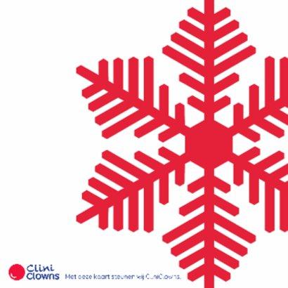 Kerstkaart CliniClowns Sneeuw 2
