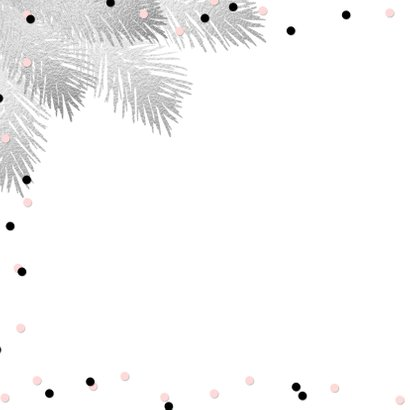 Kerstkaart confetti aquarel hip 2