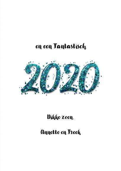 Kerstkaart confetti blauw kerst 2020 3