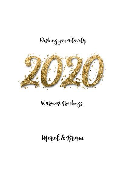 Kerstkaart confetti Christmas en eigen foto 2020 3