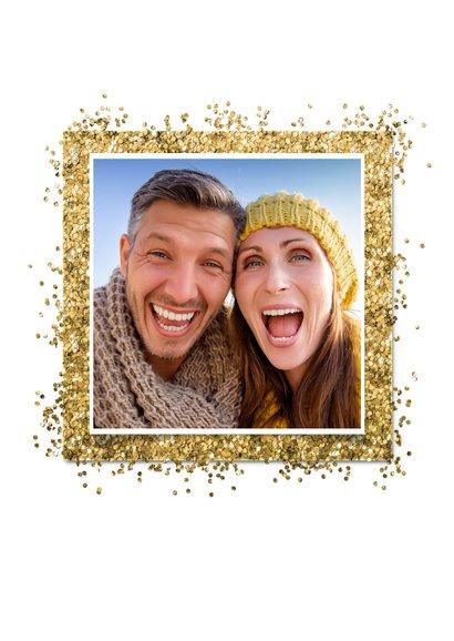Kerstkaart confetti Christmas en eigen foto  2