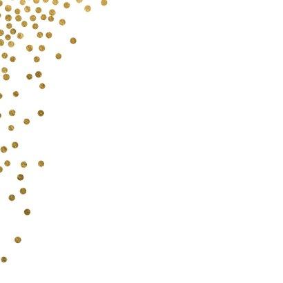 Originele kerstkaart confetti goud wit 2