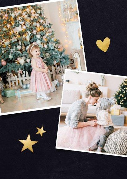 Kerstkaart Corona - Samen gaat het ons lukken kerstboom hart 2