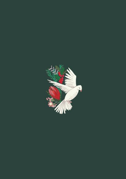 Kerstkaart cosy Christmas duiven 2