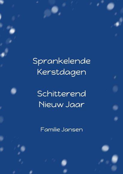 Kerstkaart cover tijdschrift binnen sneeuw 3