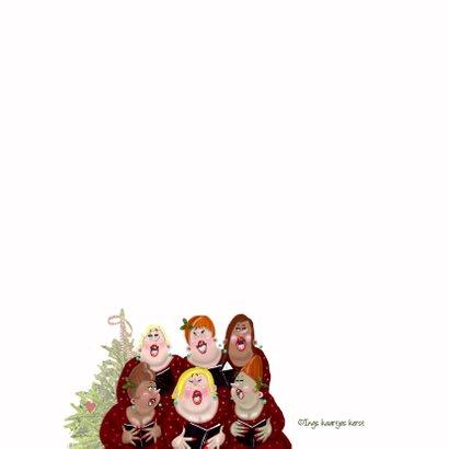 Kerstkaart dames samenzang 2