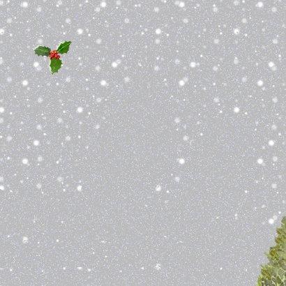 Kerstkaart dames samenzang Achterkant