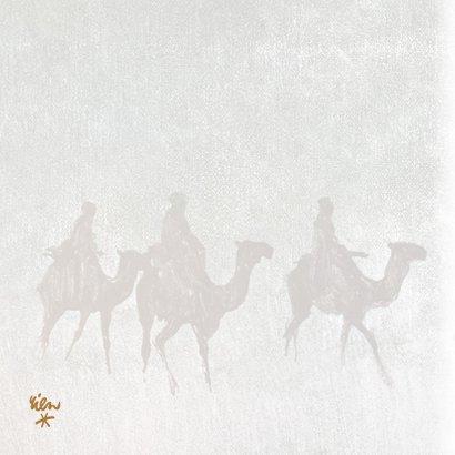 Kerstkaart De drie Wijzen uit het oosten 2