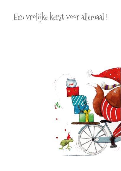 Kerstkaart de pakjes leverancier 3
