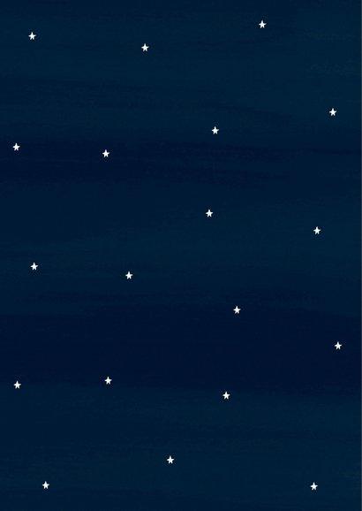 Kerstkaart donkerblauw Lichtje 2
