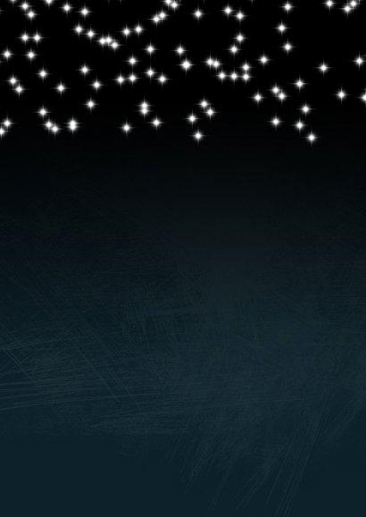 Kerstkaart donkerblauw met sterretjes 2020-2021  Achterkant