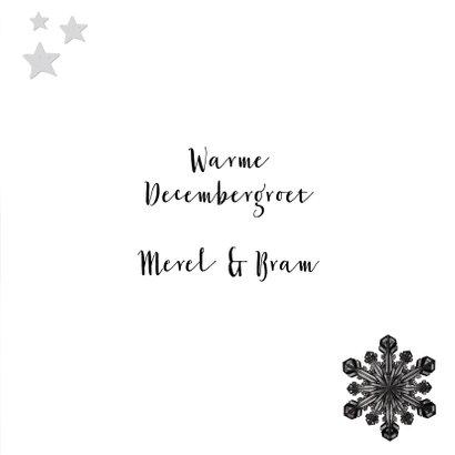 Kerstkaart eigen foto blauwgrijs hout met lijst 3