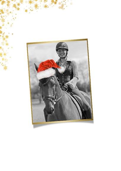 Kerstkaart eigen foto paard 2