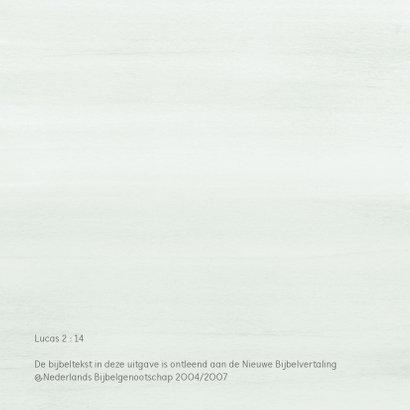 Kerstkaart eucalyptus takjes met eigen (christelijke) tekst 2