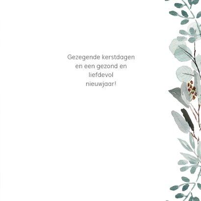 Kerstkaart eucalyptus takjes met eigen (christelijke) tekst 3