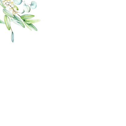 Kerstkaart eucalyptuskrans  2