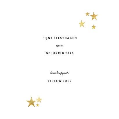 Kerstkaart feestelijk gouden kader met confetti 3