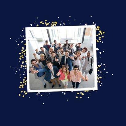 Kerstkaart fijne feestdagen 2021 nieuwjaar goud confetti 2
