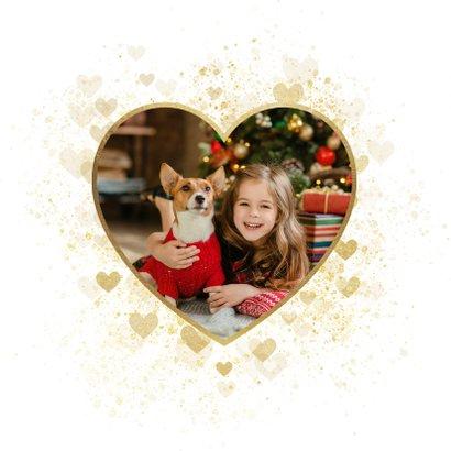 Kerstkaart Fijne Feestdagen gouden hart liefdevol 2