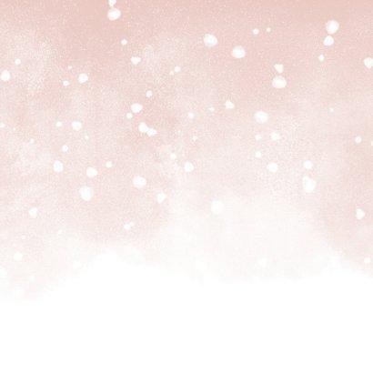 Kerstkaart fijne kerst met 3 foto's en waterverf sneeuw Achterkant