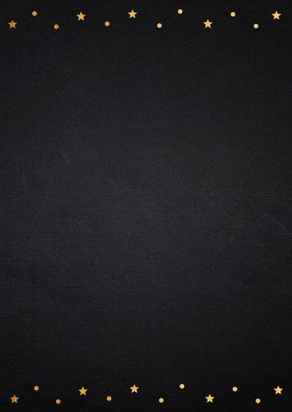 Kerstkaart foto confetti goud krijtbord 2