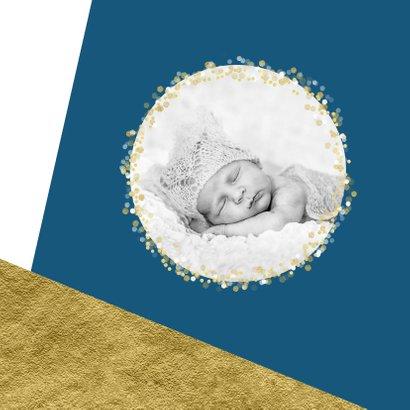 Kerstkaart foto confetti met aanpasbare achtergrondkleur  2