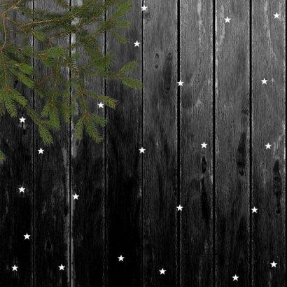 Kerstkaart foto op hout 2020 2