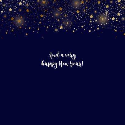 Kerstkaart foto sterren goud glitterlook 2