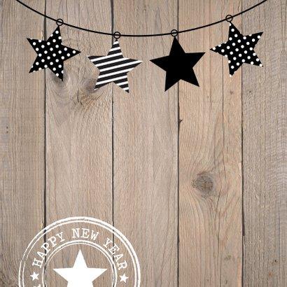 Kerstkaart foto sterren hout 2