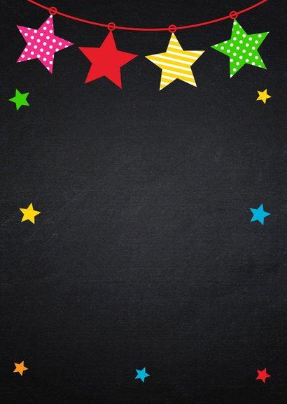 Kerstkaart foto sterren kleur krijtbord 2