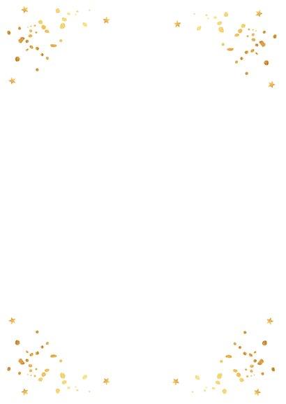 Kerstkaart foto wit goudlook confetti 2