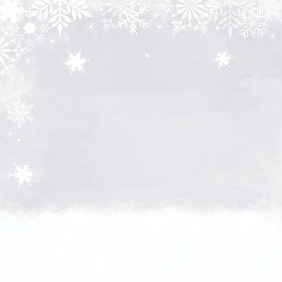 kerstkaart foto witte sneeuwvlokken watercolour 2