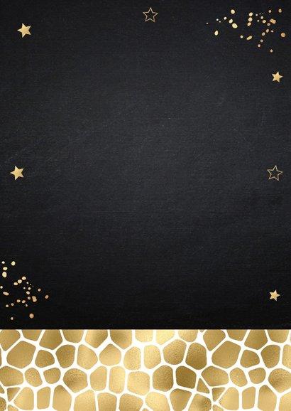 Kerstkaart fotocollage zwart panterprint goudlook 2