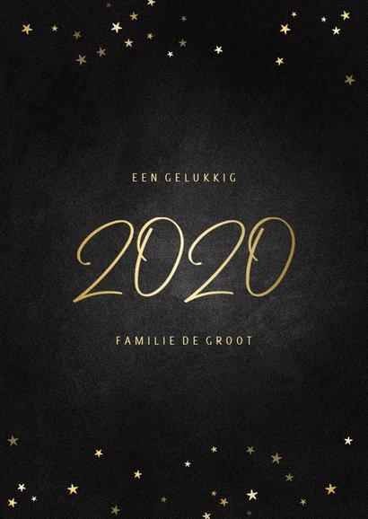 Kerstkaart fotocollage handgeschreven 2020 krijtbord 3