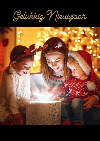 Kerstkaart fotocollage staand wit 2