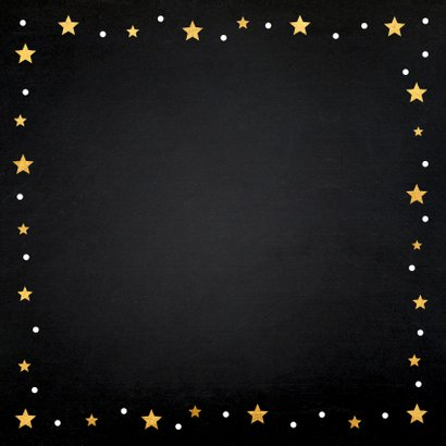 Kerstkaart fotocollage sterren zwart goudlook 2