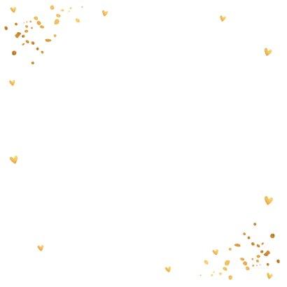 Kerstkaart fotocollage wit goudlook confetti 2