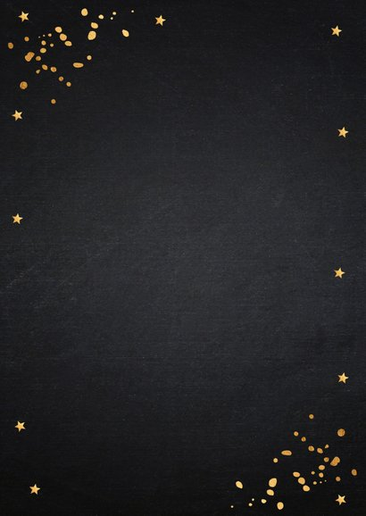 Kerstkaart fotocollage zwart goudlook 2
