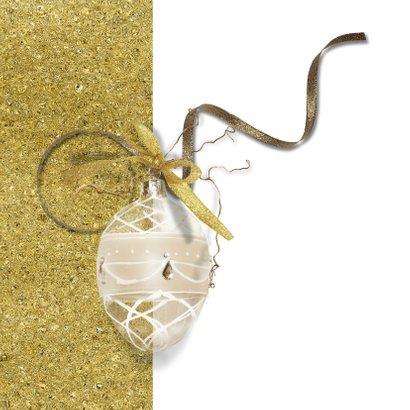 Kerstkaart fotolijst in goudtinten 2