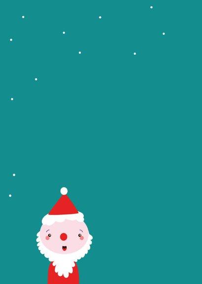 Kerstkaart funny face kerstman hohoho 2