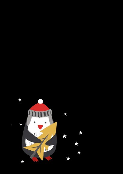 Kerstkaart Geluk en gezondheid, gezelligheid 2