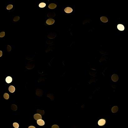 Kerstkaart glamour goudlook Achterkant