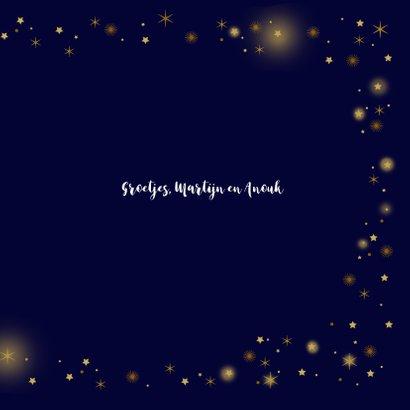Kerstkaart glitter sterren goudlook 3