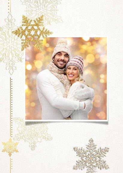 Kerstkaart glitter sterren - SG 2