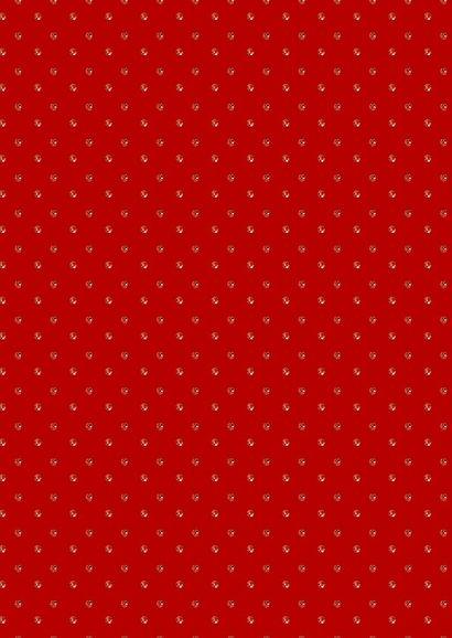 Kerstkaart glitter strass trend rood 2